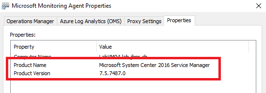 Microsoft Monitoring Agent Version