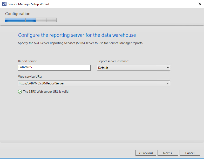 Configure Reporting Services